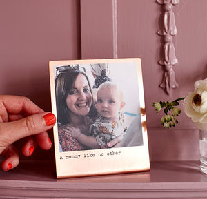 Personalised Solid Copper Photo Print - home accessories