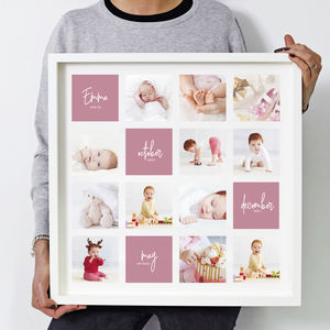 Personalised 'Baby First Year' Photo Print - new in home