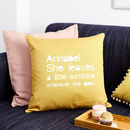 Personalised Sunshine Quote Cushion