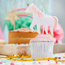 Unicorn Shaped Party Candle