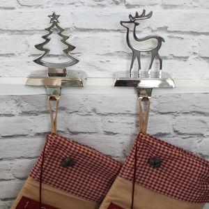Metal Christmas Stocking Hanger - stockings & sacks