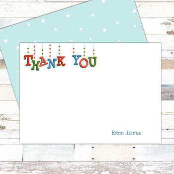 Personalised Christmas Thank You Notecards