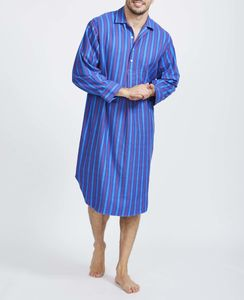 Men's Jester Stripe Flannel Nightshirt - men's fashion
