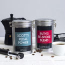 Cyclists Personalised Coffee Gift Tin