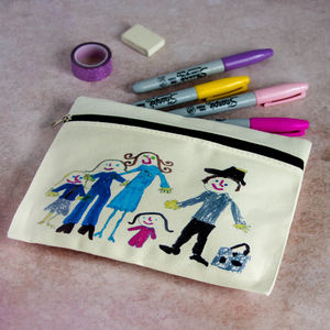Personalised Child's Drawing Pencil Case