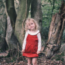 Brick Red Corduroy Dungaree Dress