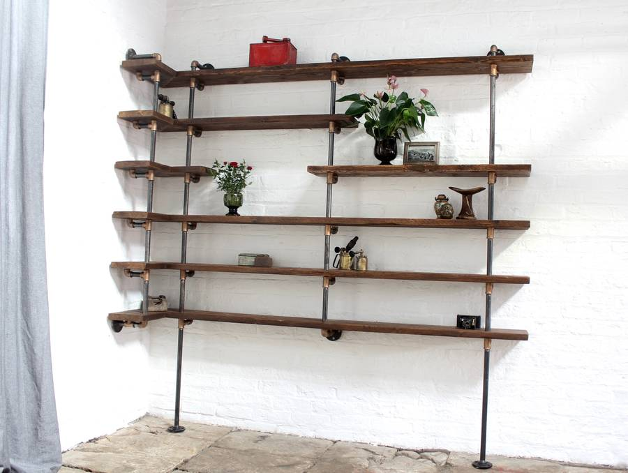 Niko floor and wall mounted mitred corner shelving by Corner wall mounted shelves