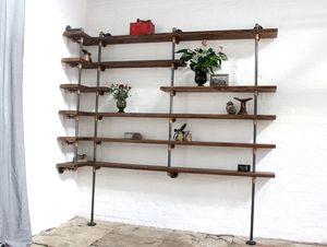 Niko Floor And Wall Mounted Mitred Corner Shelving - living room