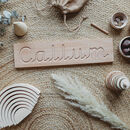 Wooden Pre Cursive Tracing Name Board