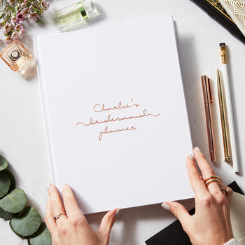 Personalised Copper Wedding Bridesmaid Planner