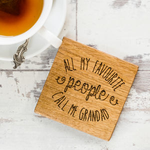Personalised All My Favourite People Coaster