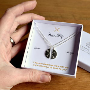Crossed Arrows Friendship Necklace Gift Set - friendship jewellery