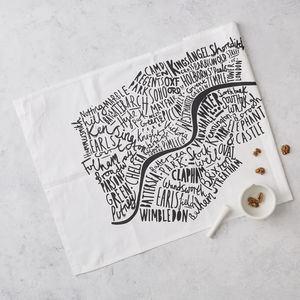 London Map Tea Towel