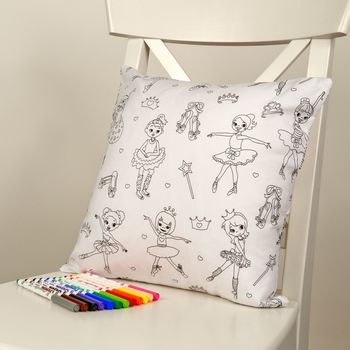 Ballerina Colour Me In Cushion