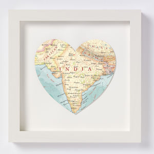 India Map Heart Print