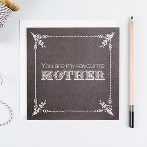 'Favourite Mother' Funny Birthday Card