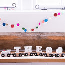 Personalised White Wooden Name Train