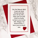 'When We Met' Personalised Anniversary Card
