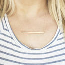 Long Textured Bar Necklace