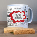 60th Birthday Personalised 1958 Mug
