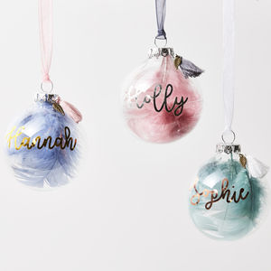 Personalised Feather Bauble