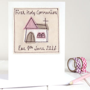 Personalised Girl's First Holy Communion Card