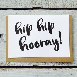 'Hip Hip Hooray!' Card - birthday cards