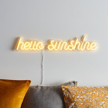 Hello Sunshine Neon Sign Wall Light
