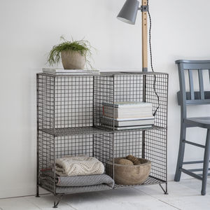 Mesh Shelving Unit - bedroom