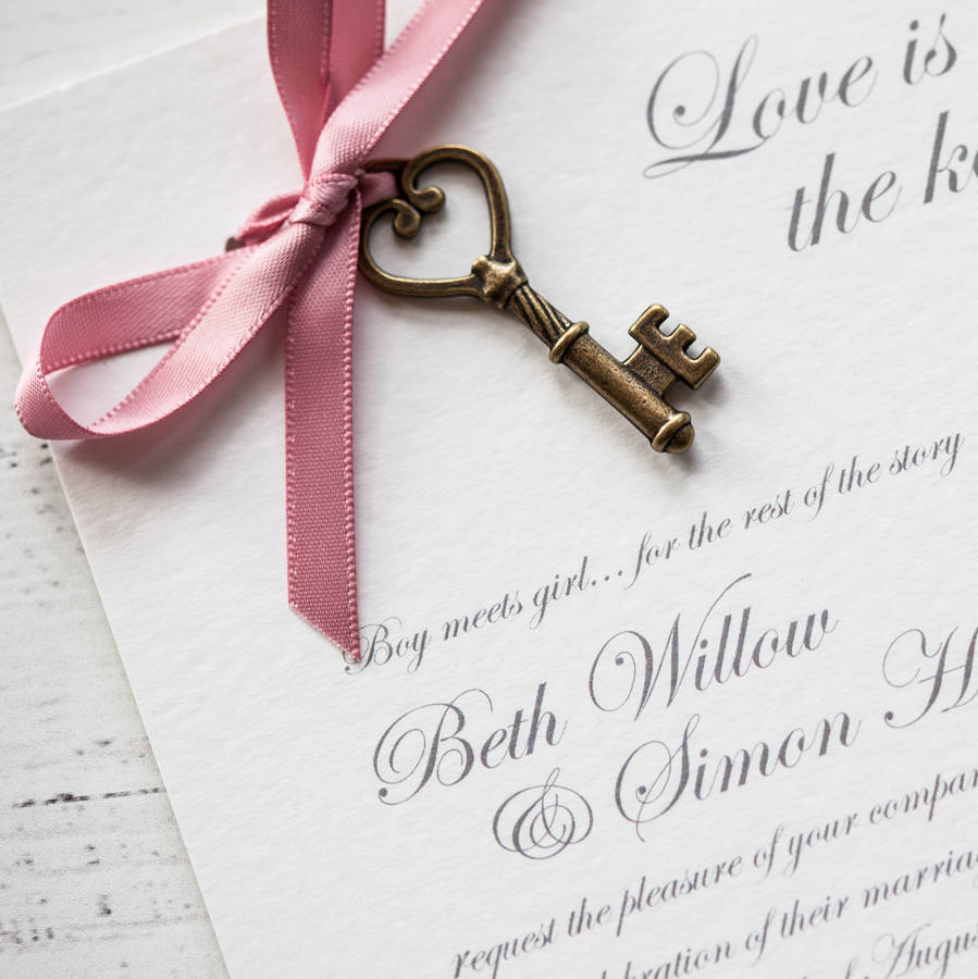 Love is the key diy wedding invitation pack by wedding in a teacup love is the key diy wedding invitation pack stopboris Choice Image