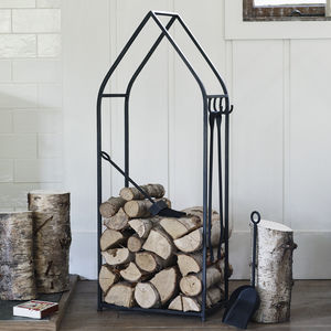 Dalwood Log Stand And Fire Tools - home accessories