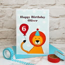 Large A5 Childrens Birthday Card - Lion Design