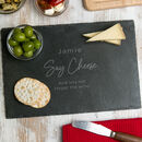 Personalised Funny Slate Cheese Board For Him