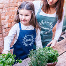 Personalised Wreath Gardening Apron Set