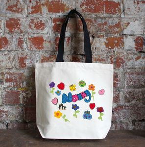 Canvas Bag Printed With Your Child's Drawing - gifts from younger children