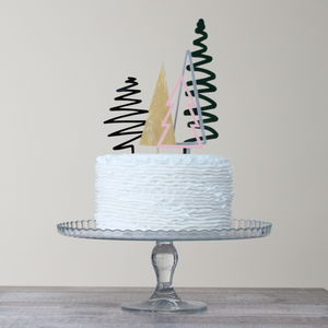 Christmas Tree Cake Topper Party Gift Set