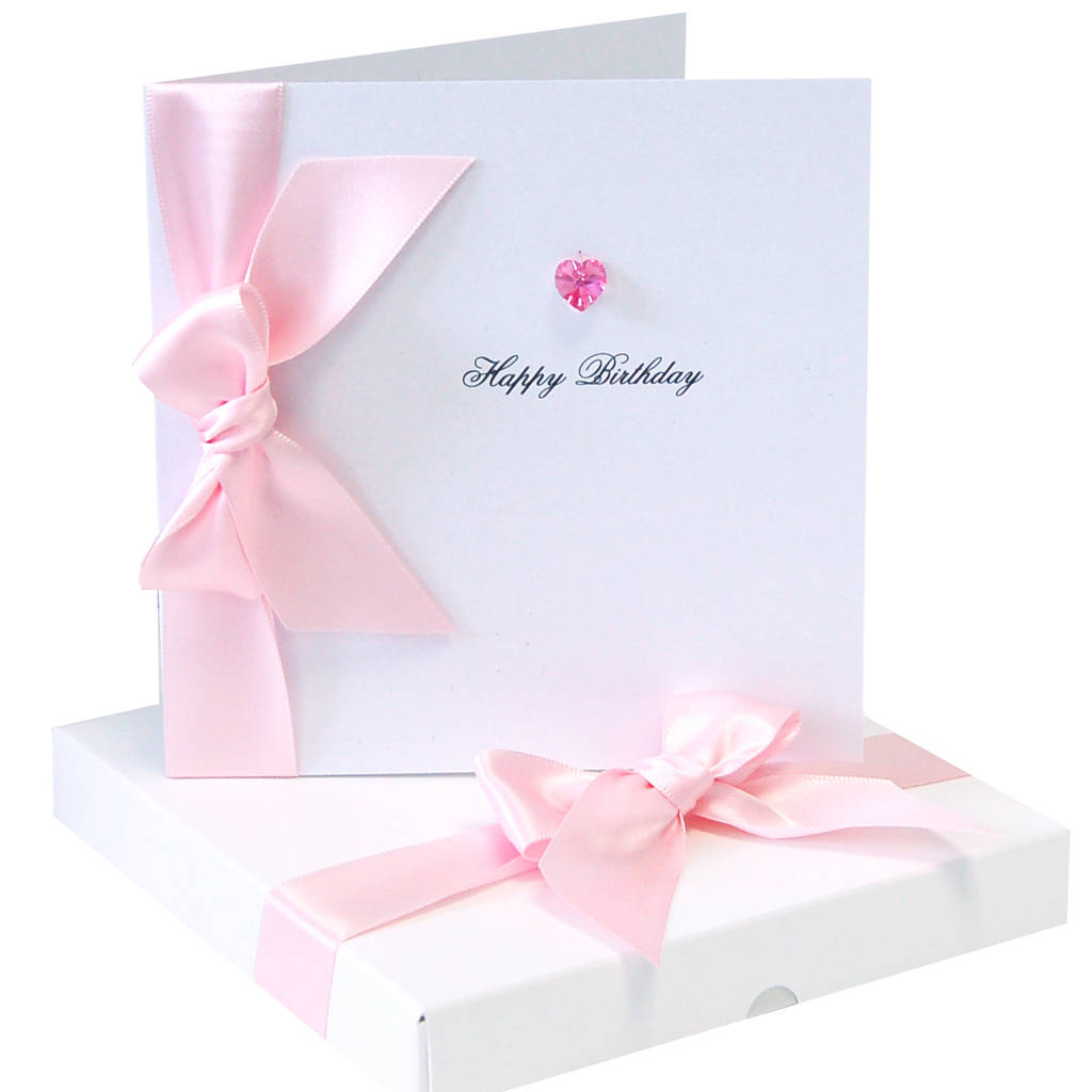 bedazzled luxury personalised birthday card by made with love – Boxed Birthday Cards
