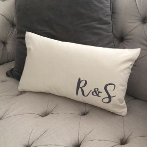 Personalised Embroidered Cushion Cover - lavender bags