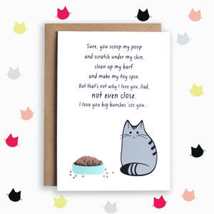 Funny Father's Day Poem Card From The Cat