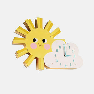 Children's Sun And Cloud Clock - children's clocks