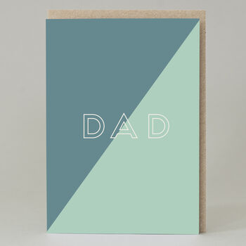 Father's Day Geometric Text Dad Card