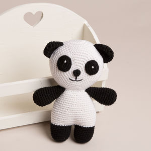 Hand Crochet Baby's First Panda Bear - teddy bears