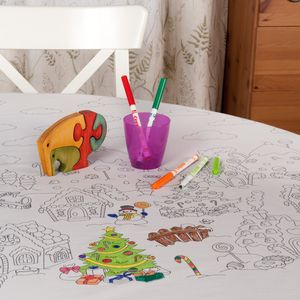 Christmas Colour Me In Tablecloth - table decorations