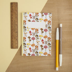 Mushroom And Toadstools Print Pocket Notebook