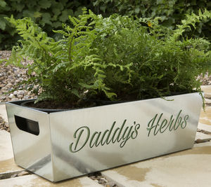 Daddy's Herbs Metal Planter