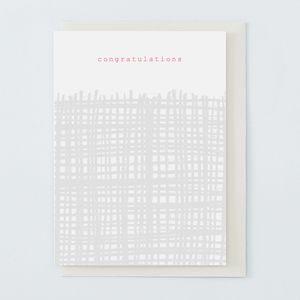 'Congratulations' Card Grey