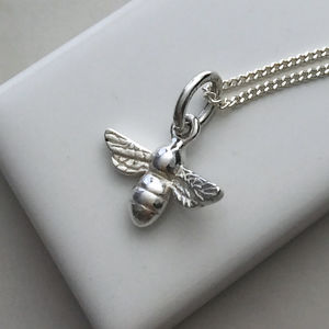 Bee Necklace In Sterling Silver - children's jewellery