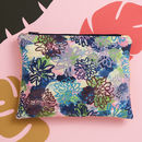 A 'Flora' Velvet And Leather Pouch