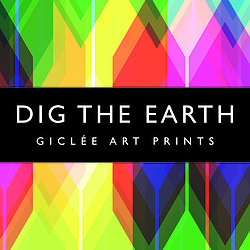 Dig The Earth Giclee Art Prints Logo