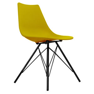 Oslo Chair Mustard With Black Metal Legs